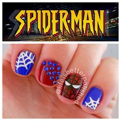 spiderman  by lifeisbetterpolished #nail #nails #nailart