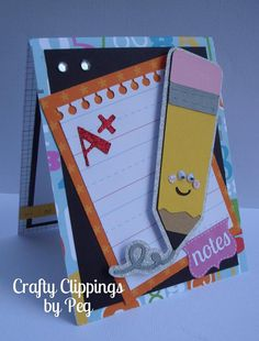 Back to School Card Teacher gift by CraftyClippingsbyPeg on Etsy, $6.00