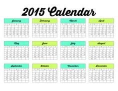 free calendar for Family Binder Printables - by The Girl Creative
