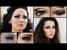 Katniss Everdeen inspired | Tribute parade makeup - Catching fire - YouTube