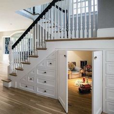 Amazing Playroom Under Stairs For Cute Kids 24 Understairs Ideas Amazing Cute Ki. - Amazing Playroom Under Stairs For Cute Kids 24 Understairs Ideas Amazing Cute Ki Understairs Ideas - Staircase Storage, Stair Storage, Storage Under Stairs, Hidden Storage, Playroom Storage, Playroom Design, Secret Storage, Toy Storage, Space Under Stairs