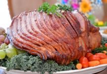 Pomegranate Cherry Glazed Ham Recipe #ImperialSugar #Easter #Thanksgiving #Christmas