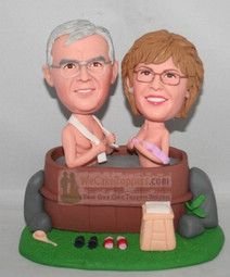 Bathing 50th Anniversary Cake Toppers $149