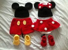 Crochet Mickey & Minnie Mouse Outfits-Stylish Eve