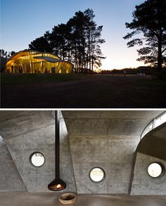 Ergofocus in LEURA PARK ESTATE WINERY PAVILION in Australia -   The pavilion was constructed in only 3 months and opened to thousands of patrons celebrating the Toast of the Coast Festival in November 2013  #fireplace #design #suspended #centrumarchitects #FocusCheminee #interior #modern #architecture