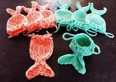 365 Crochet: Mermaid Fish Tail Treat Bags -free crochet pattern-