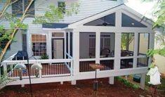27 Ideas for enclosed patio ideas on a budget sunroom addition – wayyouruse – - Modern Screened Porch Decorating, Screened Porch Designs, Screened In Patio, Backyard Patio Designs, Patio Ideas, Landscaping Ideas, Diy Patio, Backyard Porch Ideas, Back Porch Designs