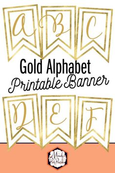 Get this FREE Gold Alphabet Printable Banner by signing up for our email list. Plus be first to learn about our free printables! Free Baby Shower Printables, Party Printables, Free Printables, Easter Printables, Letras Baby Shower, Printable Banner Letters, Free Printable Birthday Banner, Anniversary Banner, Deco Table Noel