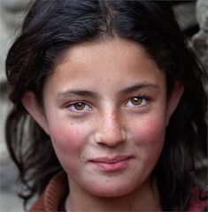 girl from the village of northern Pakistan-we can all smile