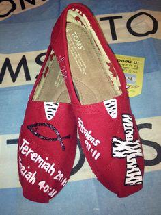 Scripture Custom TOMS Shoes by UniquelySouledDesign on Etsy, $94.00