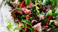 Beef and chilli salad with anchovy and caper dressing recipe - 9Kitchen