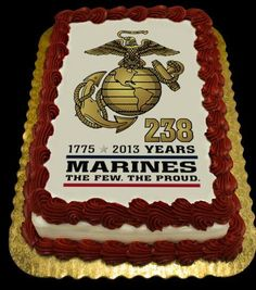 Pleasing 14 Best Usmc Cake Images Cake Marine Cake Military Cake Birthday Cards Printable Trancafe Filternl