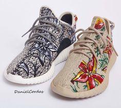 fce96bf5d138 Custom adidas Yeezyboost 350 Floral by Daniel Cordas