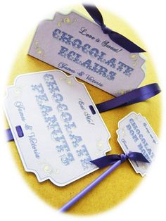 PERSONALISED CANDY BUFFET SWEET TABLE TAGS SIGNS LABELS VINTAGE WEDDING | eBay