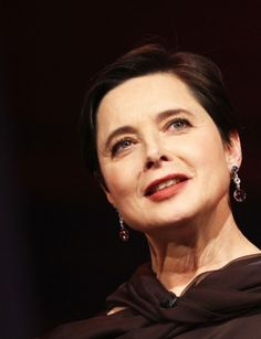 "Isabella Rossellini:  ""I don't age gracefully to give anybody an example ... I age comfortably."""