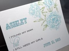 5 Customized Will You Be My Bridesmaid Cards. $24.95, via Etsy.