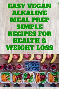 Alkaline Meal Prep Recipes For Weight Loss And Beginner Vegans 6 Alkaline Diet Recipes for preparing meals to lose weight and also for on the go vegans with a busy lifestyle. Weight Loss Meals, Diet Food To Lose Weight, Losing Weight, Healthy Weight, Alkaline Diet Plan, Alkaline Diet Recipes, Healthy Recipes, Simple Recipes, Alkaline Foods Dr Sebi