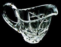 Sparkling Lead Crystal Milk Cream CREAMER PITCHER Cut Glass