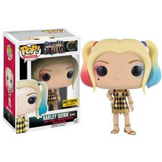 Suicide Squad Harley Quinn Gown Exclusive Heroes Suicide Squad's lovely and mischievous Harley Quinn Exclusive POP! vinyl from Funko featuring her in a gold and black gown from the upcoming feature film. Funk Pop, Disney Pop, Marvel 616, Pop Marvel, Batman Beyond, Pop Vinyl Figures, Disney Infinity, Team Fortress 2, Mega Man