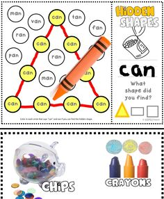 Math + ELA combined! Learn short vowel sounds while searching for the hidden shapes.