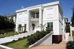 Modelo de casa com arquitetura do tipo americana