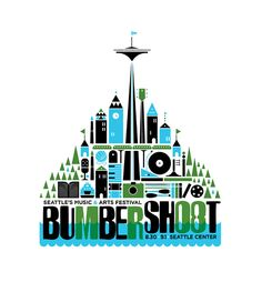 Previous / Next  Bumbershoot  The identity design for the 2008 Bumbershoot music and arts festival in Seattle.