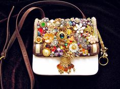 Vintage Jewelry Mosaic Embellished Ladies Purse http://www.loveitsomuch.com