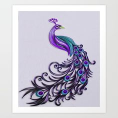 Buy Color Me Peacock Purple Art Print by designbykiyomi. Worldwide shipping available at Society6.com. Just one of millions of high quality products available.