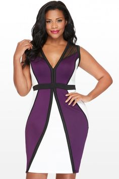 Plus Size Edie Color Block Dress   Fashion To Figure  $42.90