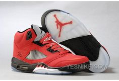 Air Jordan 5 Retro Red Black Men's Sneakers Nike Free Run 3 - Nike Shox Shoes, New Jordans Shoes, Nike Shoes Cheap, Air Jordans, Cheap Nike, Jordans 2014, Men's Shoes, Nike Air Jordan Retro, Air Jordan Shoes
