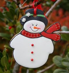 Hanging Snowman Cookie