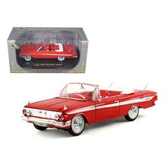 1961 Chevrolet Impala Red 1/32 Diecast Model Car by Signature Models