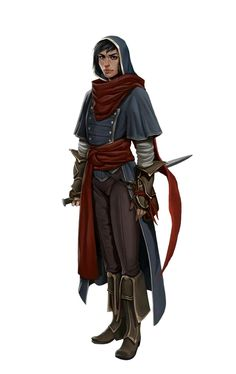Female Human Rogue - Pathfinder PFRPG DND D&D d20 fantasy