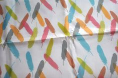 feathers - feather fabric - original fabric - fat quarter. $9.00, via Etsy.