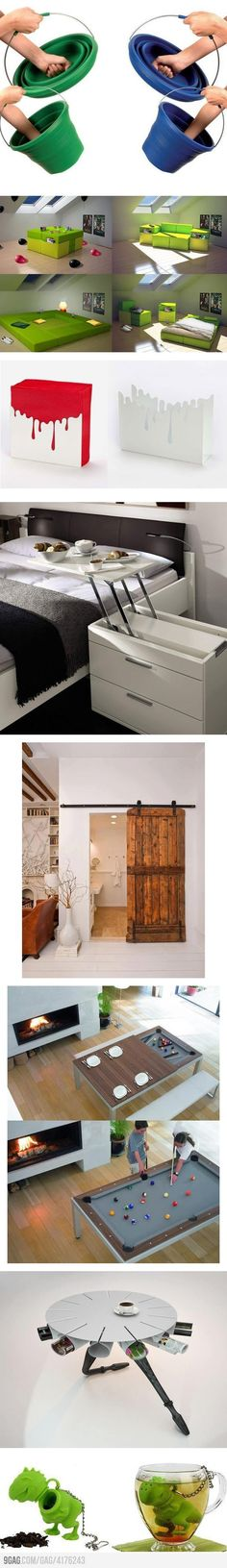 Cool stuff you'll likely want for your home. I want that awesome door and the bedside table.