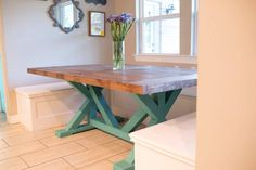 Excited to share the latest addition to my shop: Farmhouse Kitchen Table Farmhouse Kitchen Tables, Farmhouse Furniture, Table Furniture, End Tables, Entryway Tables, Etsy Shop, Vintage, Home Decor, Mesas