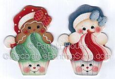 Christmas Cupcakes ePattern by Pamela House - PDF DOWNLOAD