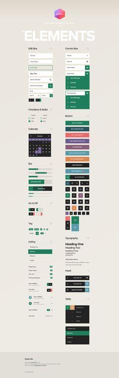 Square UI - User Interface Kit - Designmodo
