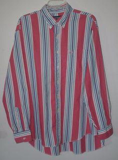 Wrangler Cowboy Cut Regular Fit X-Long Tail Pink Striped Shirt 17.5 - 35 #Wrangler #Western #Cowboy