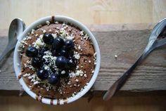 Suklaa-mustikka fondant // Blueberry chocolate fondant