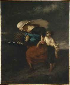 """Jean-Francois Millet, """"Retreat From the Storm"""", 1846"""