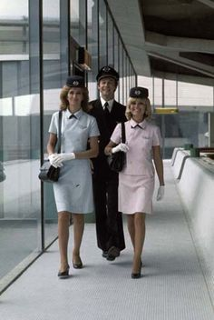 Air France Crew 1970's CDG 1 Airport