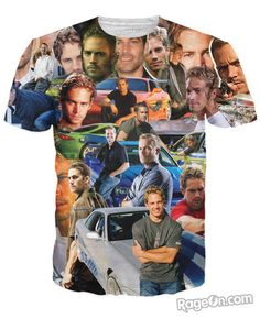 Paul Walker Paparazzi T-Shirt - RageOn! - The World's Largest All-Over-Print Online Store