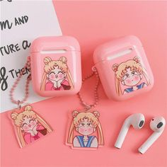 Kawaii Usagi Airpods Case For Iphone Dyi Phone Case, Emoji Phone Cases, Cool Phone Cases, Iphone Cases, Cute Headphones, Cute School Supplies, Air Pods, Miniature Crafts, Aesthetic Drawing