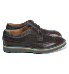 Paul Smith Brown Leather & Suede Grand Brogues