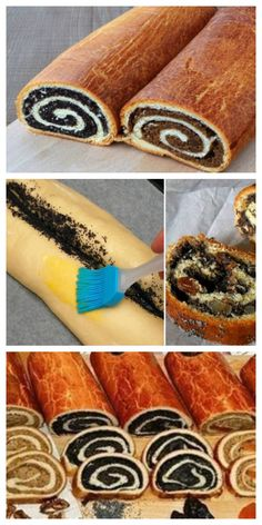 Poppy Seed or Raisin Nut Roll . Do you want with halva, do you want with poppy seeds? Bosnian Recipes, Armenian Recipes, Baking Recipes, Cake Recipes, Dessert Recipes, Southern Cooking Recipes, Cherry Recipes, Easy Cake Decorating, Bread Cake
