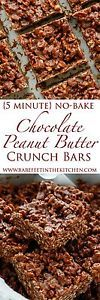 "Chocolate + Peanut Butter + plenty of crunch = pure happiness in a homemade ""candy bar"" that you make in about 5 minutes! I've made countless versions of no-bake bars over the years, but it always comes..."