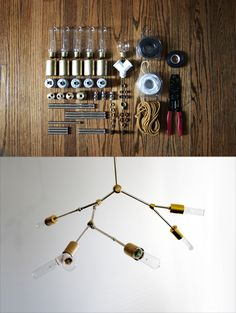 Lindsey Adelman DIY industrial hanging lamp.  Considering it for the Manbarn x4.