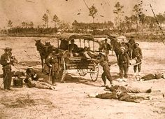 Title:  Federal Army ambulance corps in action after a battle  Artist:  Mathew Brady  Product code:  PNP268578  Edition type:  Open edition  Publisher:  Bridgeman Art Library  Copyright:  © Bridgeman Art Library / Private Collection / Peter Newark Military Pictures