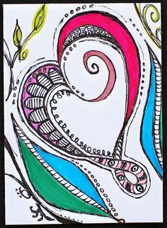 ATC - Zenspirations Heart Flourish by Pink Palindrome, via Flickr